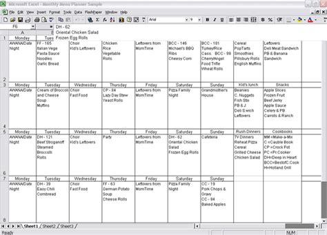 menu planner template 18 free word psd pdf eps indesign