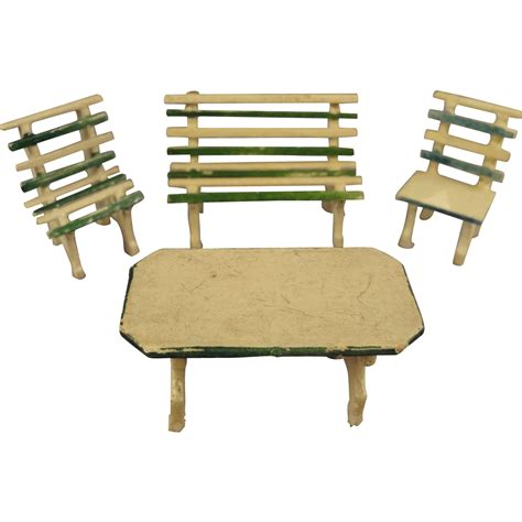 park bench table german garden set park bench table chairs in small scale