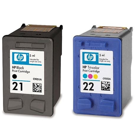 Tinta Printer Hp No 21 Hp Sd367ae Pack N 186 21 22 Negro Color Pccomponentes