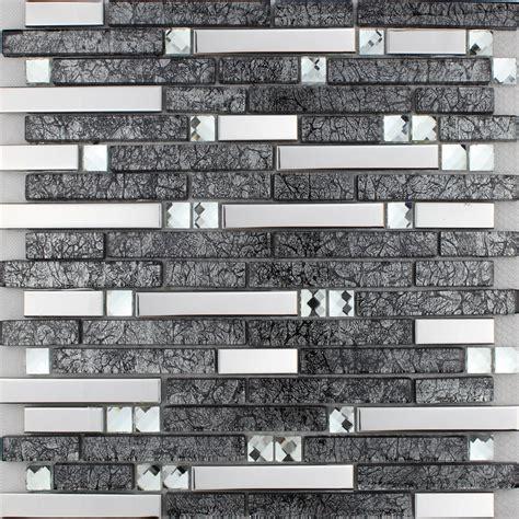 wholesale mosaic tile crystal glass backsplash kitchen wholesale metallic backsplash tiles brown 304 stainless