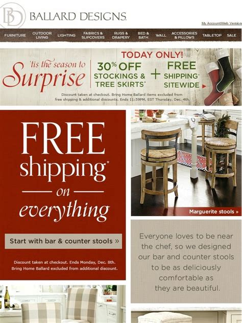 ballard design free shipping ballard designs free shipping sitewide 30 and tree skirts milled