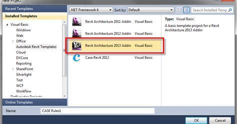 Reports Templates For Visual Studio 2010 Bim Development Revit 2013 Visual Studio 2010 Template