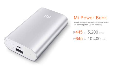 Power Bank Samsung Animal Edition xiaomi offers 5200mah mi powerbank for 445 and 10400mah for 645 in the philippines