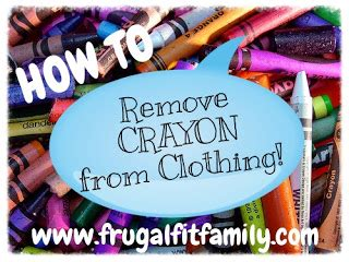 Remove Crayon From by Frugal Fit Family Green Cleaning How To Remove Crayon