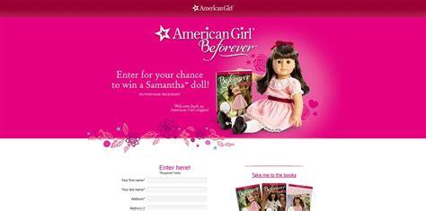 American Girl Doll Sweepstakes - american girl samantha doll sweepstakes americangirl com winsamantha win a
