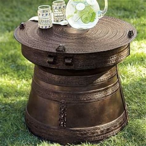 frog rain drum accent table best pottery barn tables products on wanelo