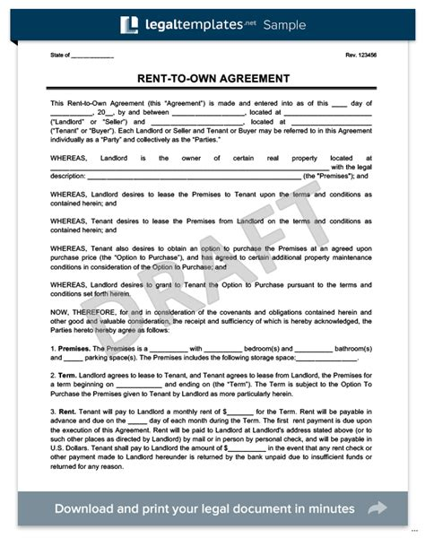 Rent Own Contract Sle Well Photo 329 425 House Exle Thumb Agreement Marevinho Lease To Buy Agreement Template