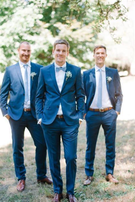 Tailor Made Navy Blue Groom Tuxedos Slim Fit Groomsman