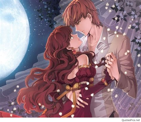 romantic anime couples romantic love couple cartoon wallpapers pictures