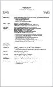 New Resume Samples Sample Resume For Newly Grad Nursing