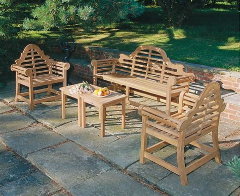 lutyens garden benches teak lutyens garden bench and table set 1 95m