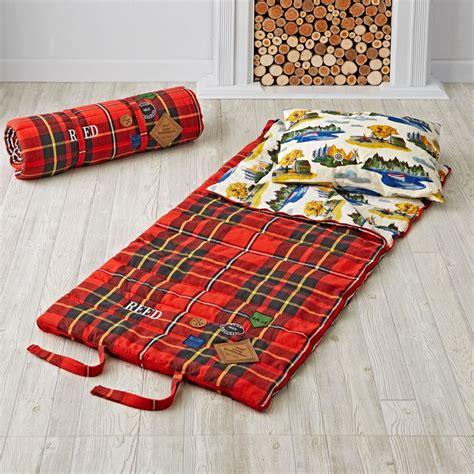 plaid sleeping bag the land of nod