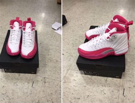 12 valentine day air jordan 12 gs white dynamic pink world kickz
