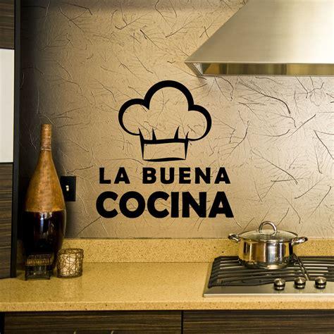 la buena cocina 8483069318 stickers muraux citations sticker bonne cuisine ambiance sticker com