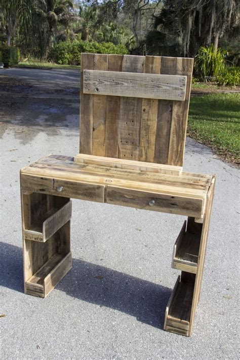 vanity dresser made from reclaimed pallet wood