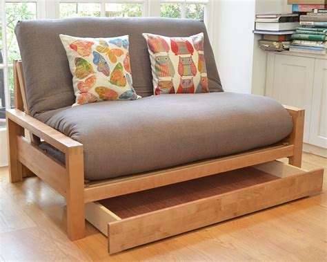 Sofa Bed With Storage Drawer Narrower Bed Drawer For 2 Seater Futon Company