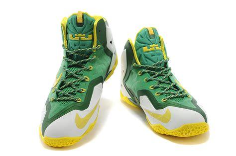 oregon ducks basketball shoes for sale nike lebron 11 oregon ducks pe white pine green tour