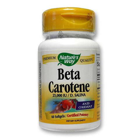 Beta Carotene Detox by Buy Nature S Way Beta Carotene 60 Softgels Hong Kong