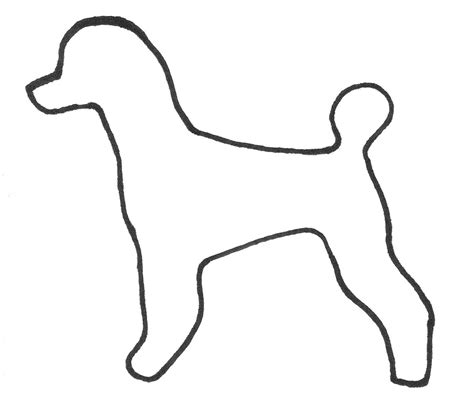 poodle template outline of poodle in a puppy clip pdf format