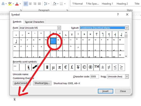 Character Means Letter Or Word How To Insert X Bar Population Into A Word Document Quora