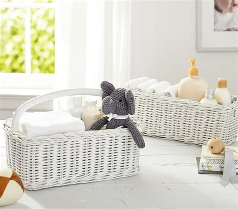 pottery barn changing table with baskets simply white sabrina nursery baskets pottery barn