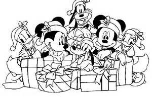 Im 225 genes con dibujos de mickey mouse de navidad para colorear