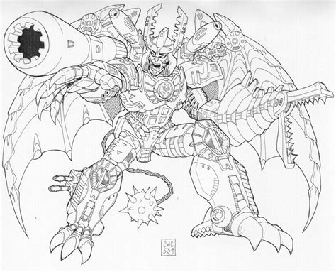 transformers megatron coloring page transformer megatron free colouring pages
