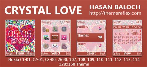 love themes c2 crystal love theme for nokia c1 01 c1 02 c2 00 107 108