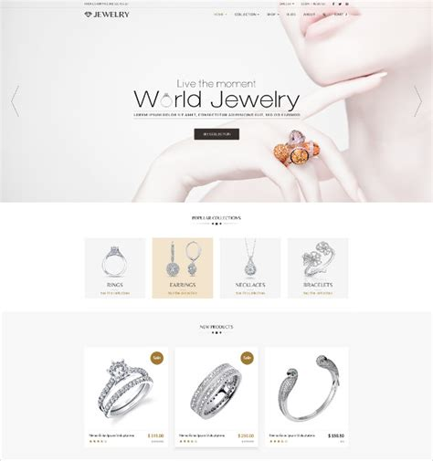 free templates for jewellery website 35 jewelry website themes templates free premium