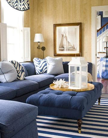 Navy Blue Sectional Sofa Cottage Living Room Blue Sofas Living Room