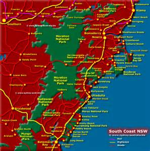 south coast map nsw
