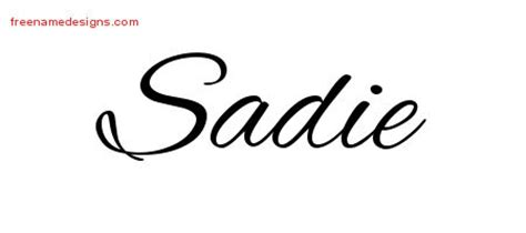 cursive name tattoo designs sadie download free free