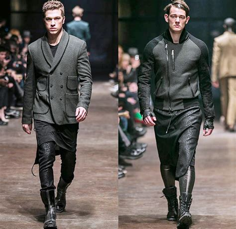 Drapery Designer Tom Rebl 2014 2015 Fall Winter Mens Runway Looks Denim