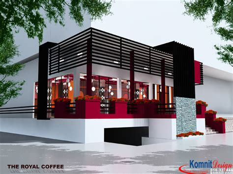 modern coffee shop exterior Gallery