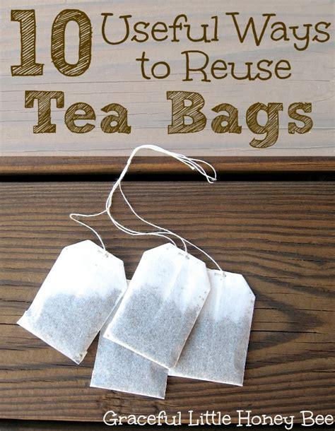 10 useful ways to reuse tea bags graceful honey bee