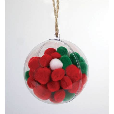 clear baubles clear fillable baubles 6cm 6 pack hobbycraft