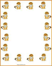 Image result for Animal border writing paper worksheet library