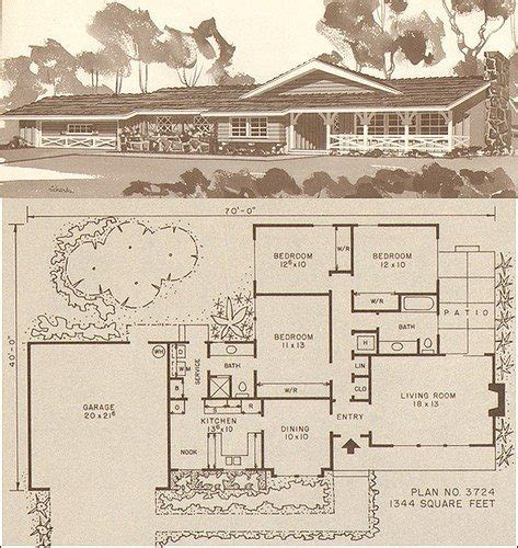 elegant 1950s ranch house floor plans new home plans design elegant vintage ranch house plans new home plans design