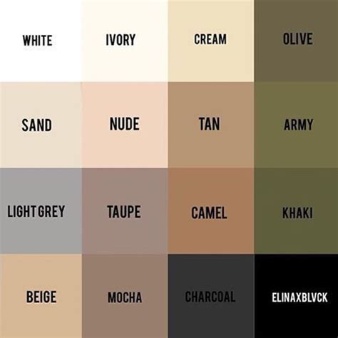 neutral colors best 25 neutral palette ideas on neutral