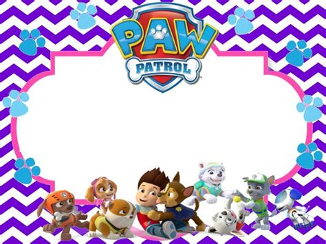 17 Best Images About 4th Birthday On Pinterest Paw Patrol Cupcake Toppers Party Printables Paw Patrol Invitation Template Blank