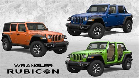 2020 Jeep Wrangler Unlimited Rubicon Colors 2019 jeep wrangler colors 2019 2020 jeep