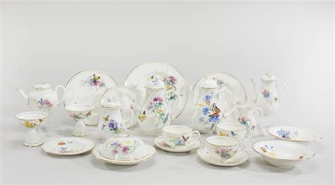 Breakfast Set Royal Worcester Painted Complete Breakfast Set For