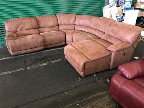 Corner Sofas Second by Harvey S Guvnor Recliner Brown Leathair Suede Type Fabric