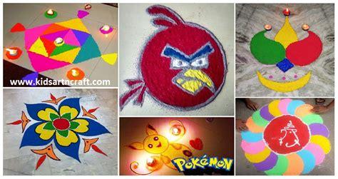 25 easy and creative rangoli designs for kids with visuals 20 easy and creative rangoli designs for kids kids art