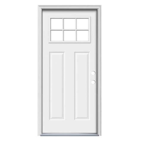 Prehung Metal Exterior Door Shop Reliabilt Prehung Inswing Steel Entry Door Common