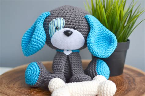 crochet puppy crochet pattern domino the amigurumi crochet