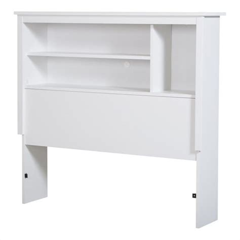 white bookcase headboard twin south shore vito twin bookcase headboard in pure white