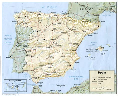 map spain map of spain