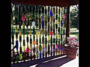 How To Upcycle Wine Bottles - how to make a special bottle fence youtube