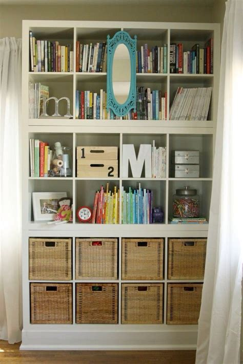 3 ideas to shake up the bookshelves 3 kallax shelves from ikea stacked on top of each other